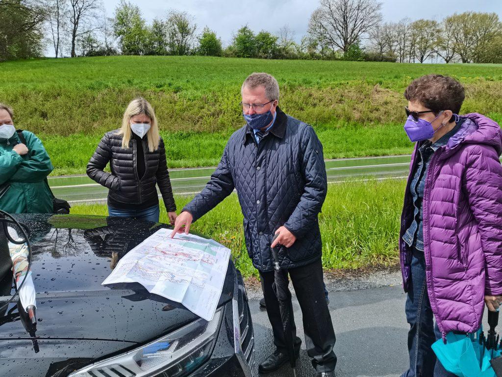 Lückenschluss Radwegenetz Altenplos mit Verkehrsministerin Schreyer